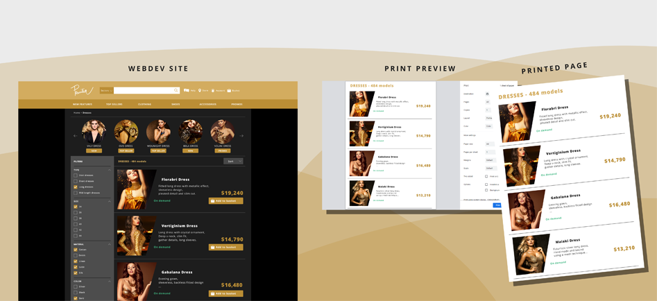 Impresión Web personalizada