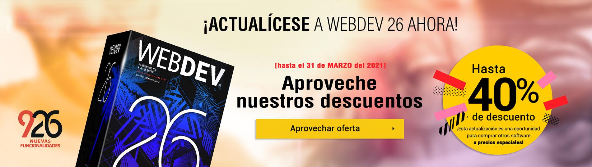 Upgrade to WEBDEV 26 now!
